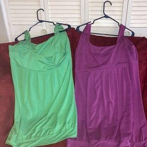 Extra large mini dresses (green&purple)